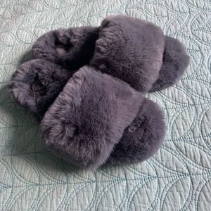 Brand New Victoria Secret Fuzzy Slides